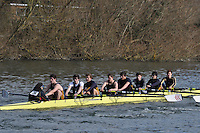 034 IM3.8+ Southampton Univ A..Reading University Boat Club Head of the River 2012. Eights only. 4.6Km downstream on the Thames form Dreadnaught Reach and Pipers Island, Reading. Saturday 25 February 2012.