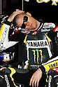 May 21, 2010 - Le Mans, France - Ben Spies takes a rest in his box during the French Grand Prix at Le Mans circuit, France, on May 21, 2010. (Photo Andrew Northcott/Nippon News).