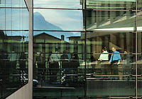 Employees inside the headquarters of LGT, the largest bank in the country, owned by the ruling royal family. Liechtenstein has become a major tax haven, whose opaque banking laws are said to aid fraud, money laundering and tax evasion. There are an estimated 75,000 companies registered in the country, twice that of the population. .
