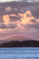 Dusk looking towards St. Thomas<br /> U.S. Virgin Islands
