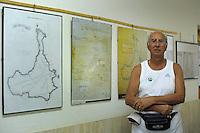 """Isola di Pianosa.Pianosa Island.Giuseppe Mazzei Braschi,presidente dell' """"Associazione per la Difesa dell'Isola di Pianosa""""."""