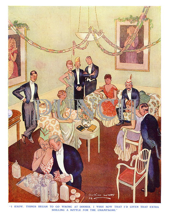 """I know, things began to go wrong at dinner. I wish now that I'd given that extra shilling a bottle for the champagne."""