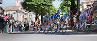 Giro d'Italia stage 13.Savano-Cervere: 121km..peloton through Ceva