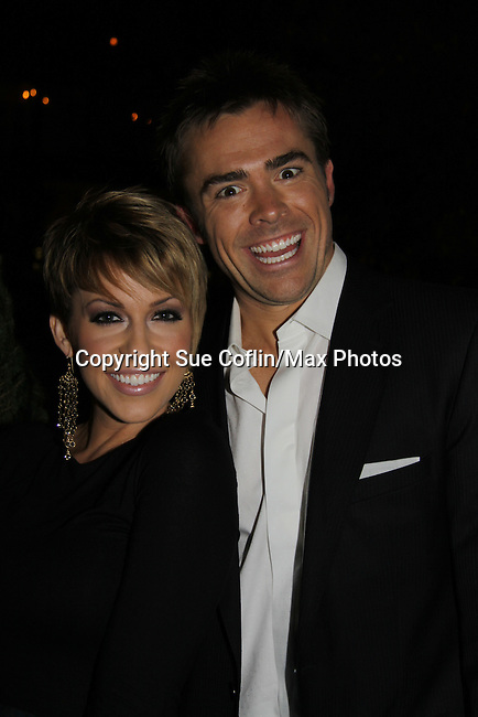 Farah Fath & John Paul Lavoisier attend ABC Daytime Soap Casino Night