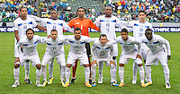CARSON, CA - March 25, 2012: Honduras starting line up for the Mexico vs Honduras match at the Home Depot Center in Carson, California. Final score Mexico 3, Honduras 0.