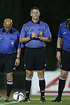 04 September 2015: Referee Joshua Brooks. The North Carolina State University Wolfpack hosted the Oregon University Ducks at Dail Soccer Field in Raleigh, NC in a 2015 NCAA Division I Women's Soccer game. NC State won the game 2-0.