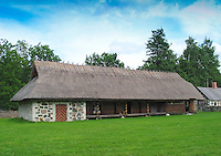 Old Building with Thatched Roof in Rocca Al Mare Museum, Tallinn, Estonia