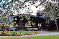 Greene & Greene: Blacker House. Porte-cochere.  Photo '88.