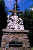 Caraquet, NB, New Brunswick, Canada - the Ninth Station of the Cross at Sainte-Anne-du-Bocage, a Catholic Sanctuary