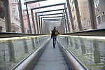 Escalator in city street, Vitoria - Gasteiz, Basque Country, Spain