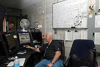Plant manager in the control room of the Yonkers Sewage Treatment Plant in the city of Yonkers, NY in Westchester County on Saturday, April 25, 2009. (© Richard B. Levine)