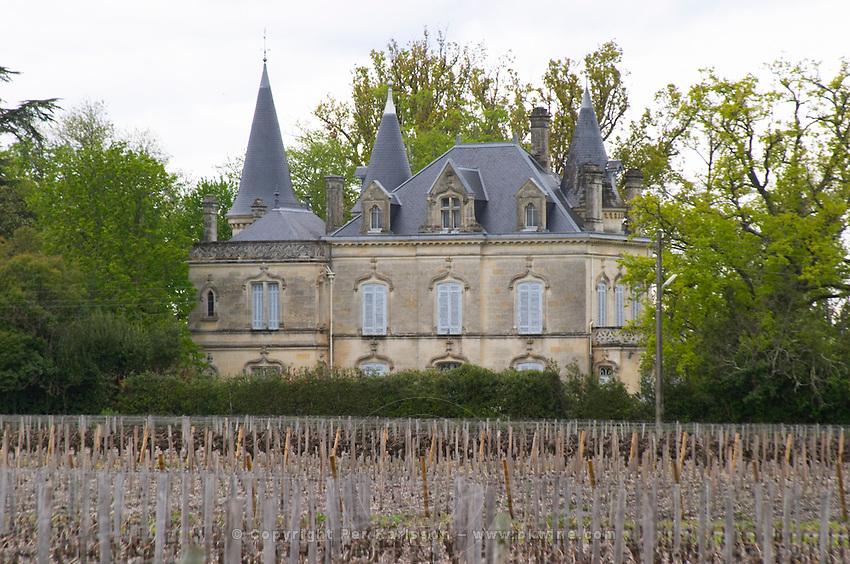 chateau on the chemin de hironde neighbouring latour martillac pessac leognan graves bordeaux france