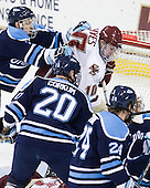 Mike Cornell (Maine - 2), Kelen Corkum (Maine - 20), Jimmy Hayes (BC - 10) - The Boston College Eagles defeated the visiting University of Maine Black Bears 4-0 on Friday, November 19, 2010, at Conte Forum in Chestnut Hill, Massachusetts.