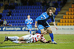 St Johnstone v Hamilton Accies....02.02.11  .Stevie May celebrates his first senior goal for saints.Picture by Graeme Hart..Copyright Perthshire Picture Agency.Tel: 01738 623350  Mobile: 07990 594431