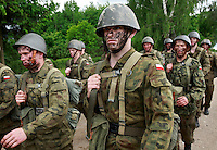 Young soldiers on their way back to base. This year's class of drafted recruits is the final one after 90 years of compulsory military service, as Poland's army turns professional in 2009.