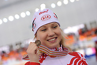 SPEEDSKATING: SOCHI: Adler Arena, 24-03-2013, Essent ISU World Championship Single Distances, Day 4, 500m Ladies, Olga Fatkulina (RUS), © Martin de Jong