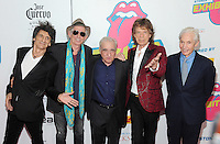 NEW YORK, NY - NOVEMBER 15:  Ronnie Wood, Keith Richards, Lorne Michaels, Mick Jagger and Charlie Watts  attend The Rolling Stones Exhibitionism opening night at Industria Superstudio on November 15, 2016 in New York City. Photo by John Palmer MediaPunch