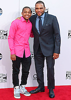 LOS ANGELES, CA, USA - NOVEMBER 23: Nathan Anderson, Anthony Anderson arrive at the 2014 American Music Awards held at Nokia Theatre L.A. Live on November 23, 2014 in Los Angeles, California, United States. (Photo by Xavier Collin/Celebrity Monitor)