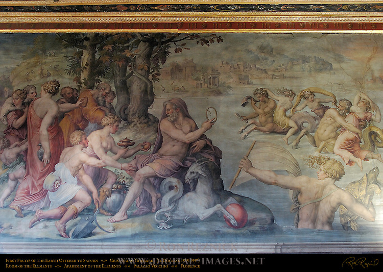 First Fruits of the Earth Offered to Saturn Gherardi Apartment of the Elements Palazzo Vecchio Florence