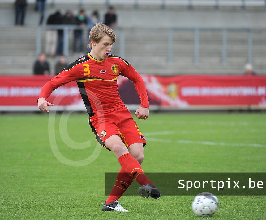 Belgium U19 - England U19 : Gilles Ruyssen.foto DAVID CATRY / Nikonpro.be