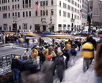 """Out takes from """"The Harvard Design School Guide to Shopping"""" published by Tashen. A busy intersection of christmas shoppers on 5th ave. outside of FAO Schwartz."""