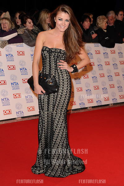 Brooke Vincent arriving for the National Television Awards 2013, at the O2 Arena, London. 23/01/2013 Picture by: Steve Vas / Featureflash