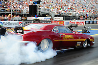 Jun. 17, 2011; Bristol, TN, USA: NHRA pro mod driver Ed Hoover during qualifying for the Thunder Valley Nationals at Bristol Dragway. Mandatory Credit: Mark J. Rebilas-