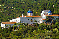 The 17th century Greek Orthodox Monatery of Chrysoleontissa, Aegins, Greek Saronic Islands.