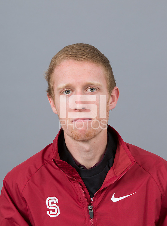 STANFORD, CA - SEPTEMBER 24, 2014--Cameron Miller, with Stanford University Cross Country Team