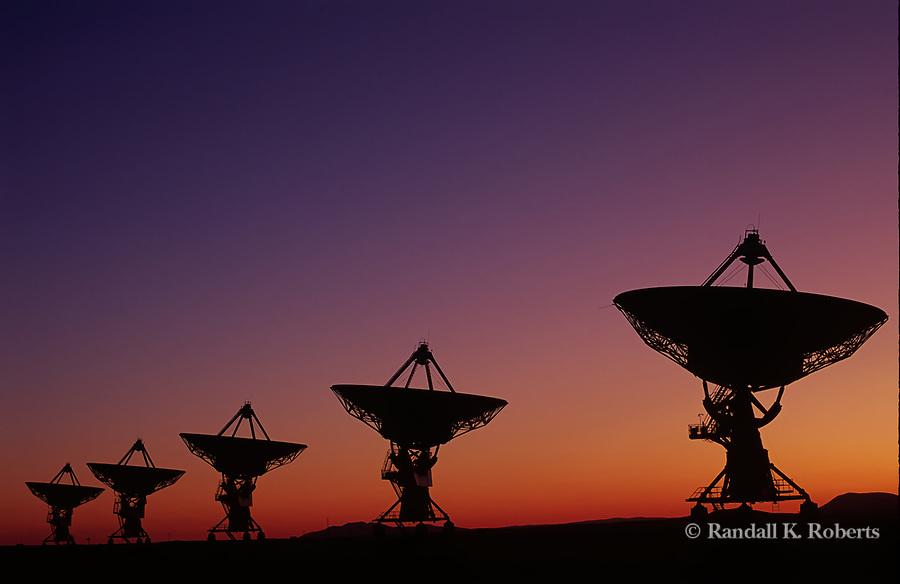 The Very Large Array Radiotelescopes listen to space, near Socorro, New Mexico