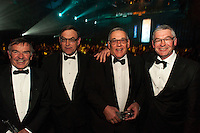 The McGuiness brothers, from left, Jim, Peter, Brian and Mark. Wellington Gold Awards at TSB Bank Arena, Wellington, New Zealand on Thursday, 9 July 2015. Photo: Dave Lintott / lintottphoto.co.nz