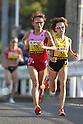 (L to R) Ryoko Kizaki (JPN), Yoshimi Ozaki (JPN), NOVEMBER 20, 2011 - Marathon : The 3rd Yokohama Women's Marathon in Kangawa, Japan. (Photo by AJPS/AFLO SPORT) [0006]