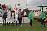 WELLINGTON, FL - MARCH 05: Sugar, ridden by Adolfo Cambiaso, owned by Valiente, is Best Playing Pony of the game, as Valiente defeats Orchard Hill 14-11, in the 26 goal CV Whitney Cup Final, at the International Polo Club, Palm Beach on March 05, 2017 in Wellington, Florida. (Photo by Liz Lamont/Eclipse Sportswire/Getty Images)