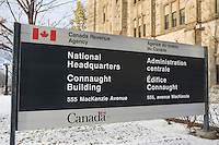 National headquarters of Canada Revenue Agency is pictured at Connaught Building in Ottawa Tuesday November 18, 2014.  The Canada Revenue Agency (CRA) is a federal agency that administers tax laws for the Government of Canada and for most provinces and territories.