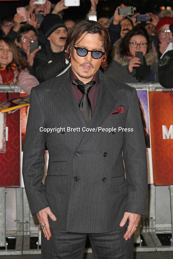 'Mortdecai' UK Film Premiere at the Empire Leicester Square, London on January 19th 2015 <br /> <br /> Photo by Brett Cove/People Press