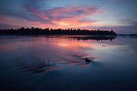 Danube after sun set, Gornje Podunavlje Special Nature Reserve, Serbia
