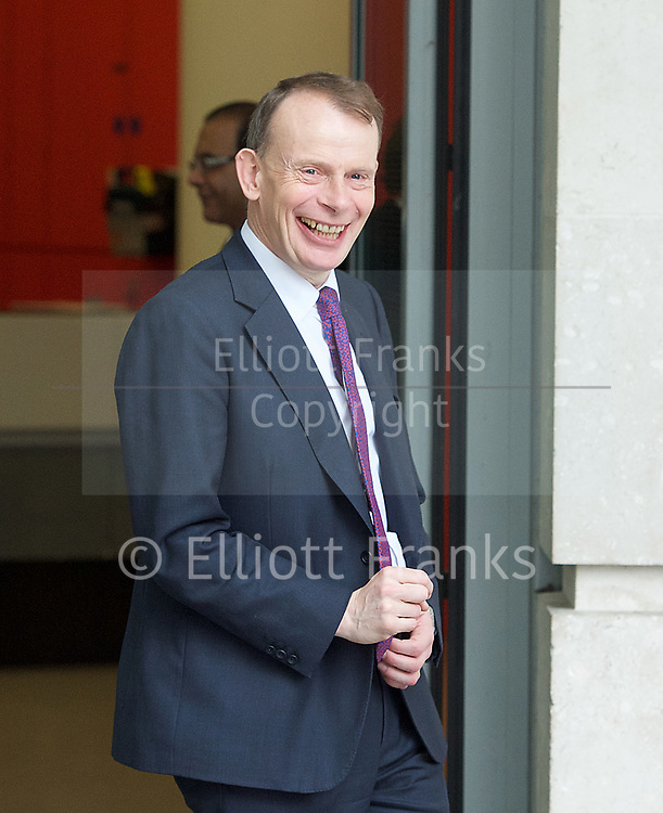 Andrew Marr Show departures<br /> BBC, Broadcasting House, London, Great Britain <br /> 12th March 2017 <br /> <br /> Andrew Marr leaving the Andrew Marr show <br /> <br /> <br /> Photograph by Elliott Franks <br /> Image licensed to Elliott Franks Photography Services