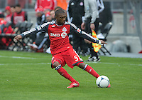 24 March 2012: Toronto FC defender Ashtone Morgan #5 in action during a game between the San Jose Earthquakes and Toronto FC at BMO Field in Toronto..The San Jose Earthquakes won 3-0..
