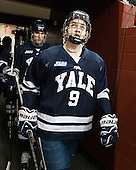 Carson Cooper (Yale - 9) - The Boston College Eagles tied the visiting Yale University Bulldogs 3-3 on Friday, January 4, 2013, at Kelley Rink in Conte Forum in Chestnut Hill, Massachusetts.