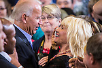 Vice President Joe Biden greets supporters after speaking at a campaign rally while on a two-day swing through Iowa on Tuesday, September 18, 2012 in Ottumwa, IA.