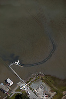 aerial photograph, seaplane low tide Sausalito, Marin County, California