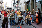 "Buenos Aires, Argentina - A band performs on the street on ""La Florida"" Street in downtown Buenos Aires"
