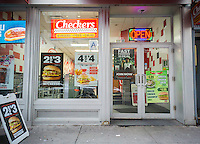 A branch of the Checkers fast food chain in Lower Manhattan in New York on Wednesday, January 18, 2017. The owner of the Checkers Drive-In Restaurants chain, Sentinel Capital Partners, is reported to be preparing to sell the chain in a deal that could be worth $500 million. (© Richard B. Levine)