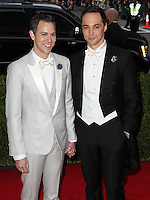 """NEW YORK CITY, NY, USA - MAY 05: Todd Spiewak, Jim Parsons at the """"Charles James: Beyond Fashion"""" Costume Institute Gala held at the Metropolitan Museum of Art on May 5, 2014 in New York City, New York, United States. (Photo by Xavier Collin/Celebrity Monitor)"""