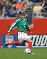 Rubi Sandoval passes. USA women's national team defeated Mexico 5-0 at Gillette Stadium in Foxborough MA on April 14, 2007
