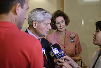 PEMBROKE PINES, FL - AUGUST 27: Former Governor of Florida and Senator Bob Graham attends Democratic vice-presidential nominee Tim Kaine meeting with Local Mayors and Elected Officials for a policy Meeting at Southwest Focal Point Senior Center on August 27, 2016 in Pembroke Pines, Florida.  Credit: MPI10 / MediaPunch