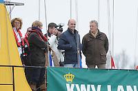 SKUTSJESILEN: LANGWEER: Langwarder Wielen, 13-04-2013, Skûtsjesilen Langwar, John Jorritsma (Commissaris van de Koningin Fryslân), ©foto Martin de Jong