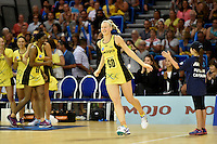 Katrina Grant in action during the ANZ Championship - Mojo Pulse v Queensland Firebirds at Te Rauparaha Arena, Porirua, New Zealand on Sunday 8 March 2015. <br /> Photo by Masanori Udagawa. <br /> www.photowellington.photoshelter.com.