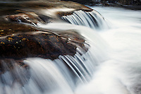 Little Stony Creek pouring over boulders, Pembroke, Giles County, Virginia, USA.