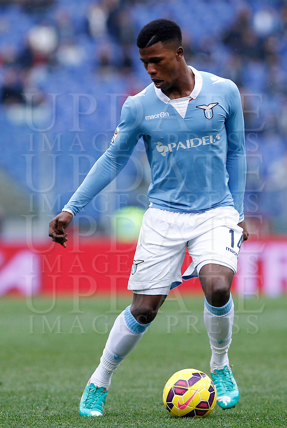Calcio, Serie A: Lazio vs Napoli. Roma, stadio Olimpico, 18 gennaio 2015.<br /> Lazio&rsquo;s Keita Diao in action during the Italian Serie A football match between Lazio and Napoli at Rome's Olympic stadium, 18 January 2015.<br /> UPDATE IMAGES PRESS/Isabella Bonotto